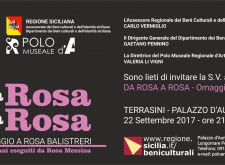 DA ROSA A ROSA – OMAGGIO A ROSA BALISTRERI – PALAZZO D'AUMALE(TERRASINI) 22/9/2017